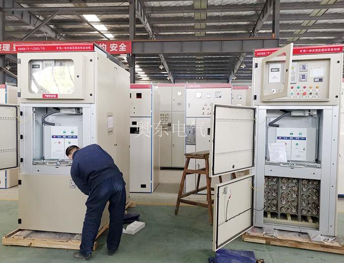 矿用一体化高压固态软启动柜 井下用节约空间带开关功能的一体化软启动柜,体积小功能多