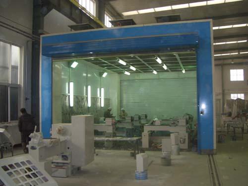 魯南機床廠整體移動噴漆房