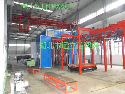 武漢噴漆房推出1.5噸工件噴漆烘干流水線
